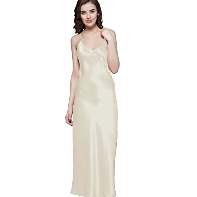 5b9bfd46bf LilySilk Silk Nightgown for Women Long Pure Natural Real 100 Mulberry  Charmeuse Silk Nightdress Lingerie Soft
