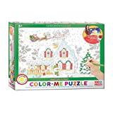 EuroGraphics Santa's Sleigh Color Me Puzzle (100 Pieces)