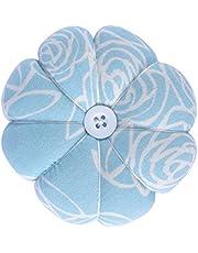 eZAKKA Pin Cushion Polka Pumpkin Wrist Pin Cushions Wearable Needle Pincushions for Sewing Quilting Pins Holder (Blue)