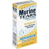 Murine Tears Lubricant Eye Drops for Dry Eyes, Original, 0.5 oz (15 ml)