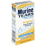 Murine Tears Lubricant Eye Drops for Dry Eyes, Original, 0.5 oz (15 ml)