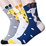 Women's Crew Socks 3-6 Pack by Ksocks, Fun Cool Cats Cartoon Sweet Animal Design Cotton Blend