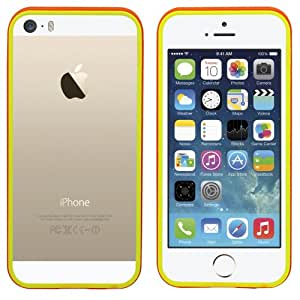 Colorfone PREMIUM Bumper Color / Case / Cubierta / Funda / Carcasa por Apple iPhone 5/5S Naranja+Amarillo