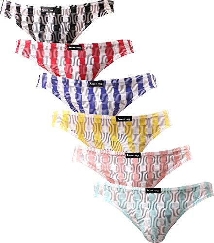 Sheer Low Rise Brief (iKingsky Men's Front Seamless Bikini Underwear Sexy Low Rise Men Briefs Pack Of 6 (US Large/With Tag XXL))
