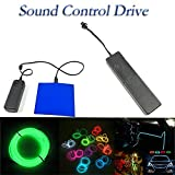 USHOT Neon Glowing Wires EL Wire Controller Inverter Adapter Sound Control Drive
