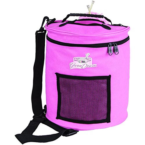 ArtBin Yarn Drum 6806SA Knitting and Crochet Tote, Pink Ribbon (Knitting Yarn Ribbon)