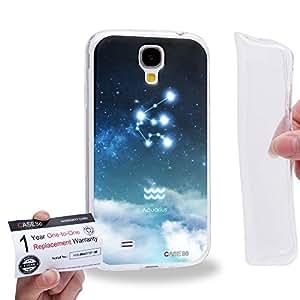 Case88 [Samsung Galaxy S4] Gel TPU Carcasa/Funda & Tarjeta de garantía - Art Universe Blue Aquarius 12 Zodiacal 1661