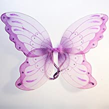 14 inch Purple Sparkle Butterfly Wings for Children - Costume, Princess, Fairy - Item #110014