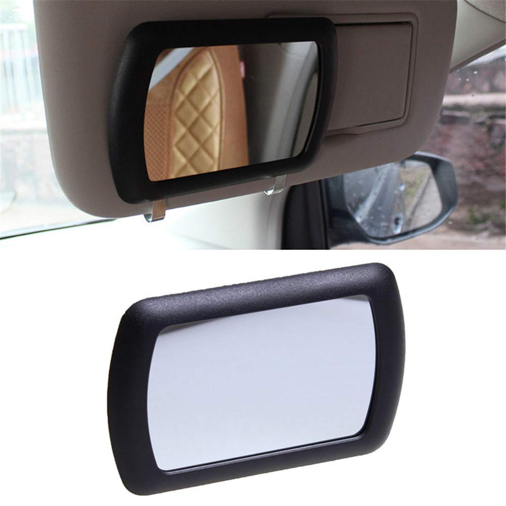 XinGe Car Maquillage Vanity Mirror Miroir Cosm/étique voiture Sun-shading Miroir Noir Fournitures Auto 11cm 4.3x7cm 2.7  1 Pc Noir