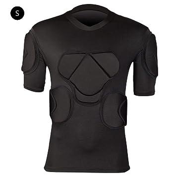 Hombres Camisetas De Portero Body Safe Guard Deportes Camiseta De Manga Corta Protectora Costilla En El