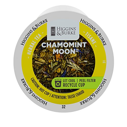 Higgins & Burke Single Serve Tea Capsules, Chamomint Meadows Loose Leaf Tea, 24 Count, Premium Authentic Herbal Tea with Natural -
