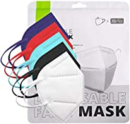 100Pcs_n95_Multi Color_Masks in Bag, Unisex Adult 5-Layer Safety Filtеr Non-woven ,High Filtration and Ventila
