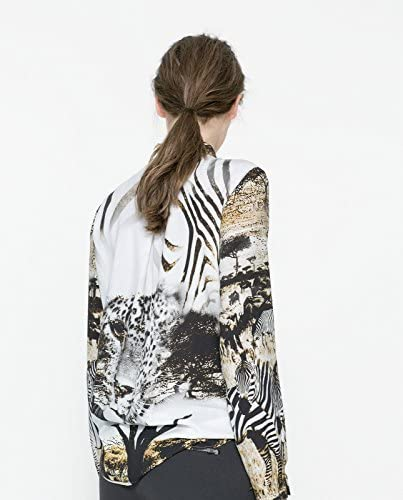 Zara auténtica de natashia Lunt Safari blusa de diseño de estampado de cebra-camiseta de manga corta en la parte superior y tamaño de la funda de: UK 8: Amazon.es: Ropa y accesorios
