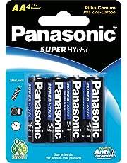 Pilha Zinco AA UM3SH (Cartela c/4 unid.) PANASONIC, Panasonic, UM-3SHS, N/DISP