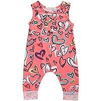 Newborn Baby Girls Flower Animal Print Romper Bodysuit Outfits Spring Summer Tops