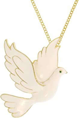 925 Sterling Silver Diamond Dove Chain Necklace Pendant Charm Animals//insect Fine Jewelry Gifts For Women For Her