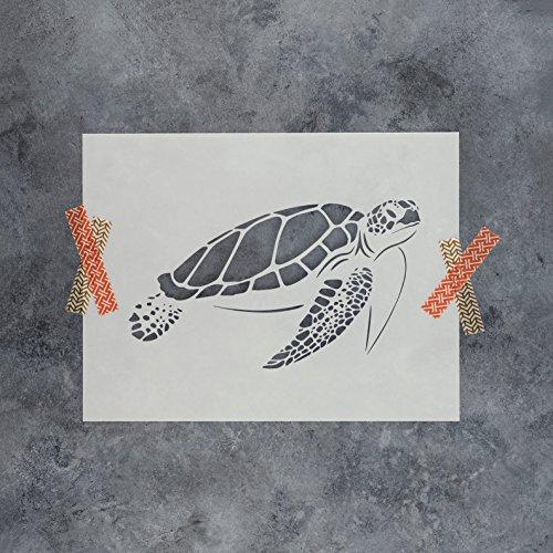 Sea Turtle Stencil Template - Reusable Stencil with Multiple Sizes (Turtle Stencil)