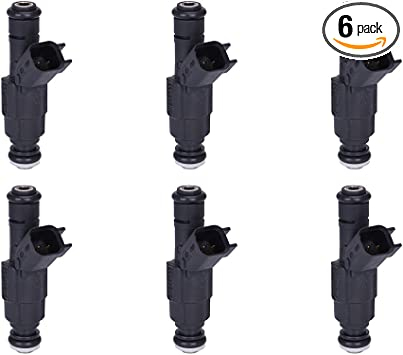6 PCS 4-Hole Upgrade Fuel Injectors fit 99-04 Jeep Grand Cherokee 4.0L 280155784