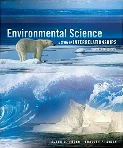 Test bank for environmental science a study of interrelationships.