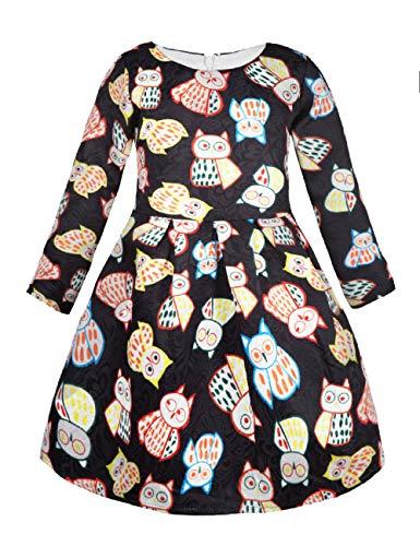 Girls Kids Casual Dress Paint Rose Animal Fall Long Sleeve/Sleeveless Dresses ()