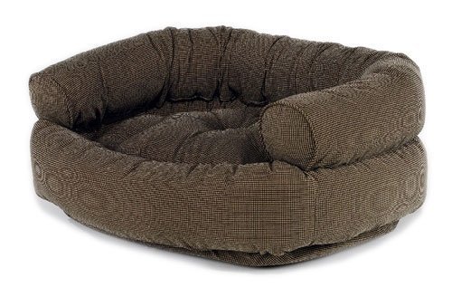 Houndstooth Microvelvet Double Donut Bed (X-Large) Houndstooth Donut Dog Bed