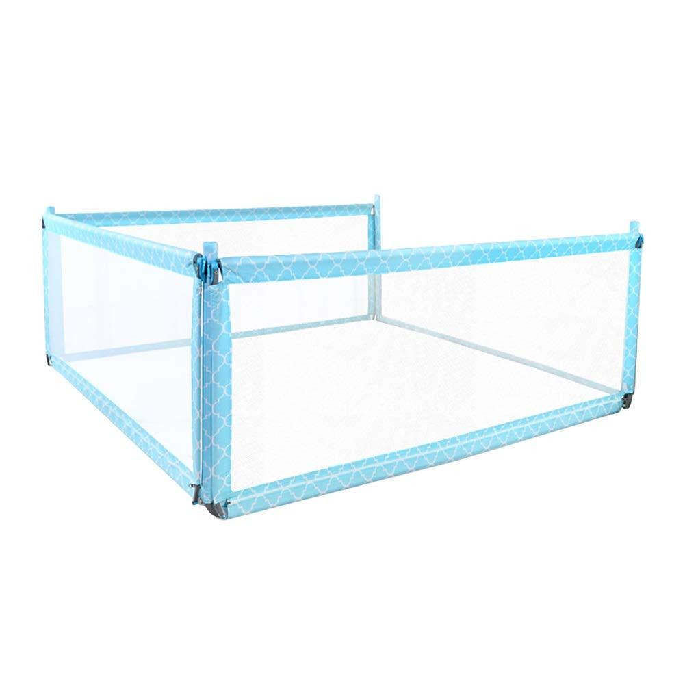 JY 3保護された保護寝台、縦の持ち上がる枕元のバッフルの赤ん坊の反落下ベッドの家の一般目的のベッドの塀 (Color : Blue, Size : 180cm+200cm+200cm) 180cm+200cm+200cm Blue B07TJ88RCS
