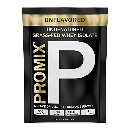 Whey Protein Isolate Powder Concentrate: PROMIX Standard 100 Percent All Natural Grass Fed & Undenatured  Best for Optimum Fitness Nutrition Shakes & Energy Smoothie Bowls: Unflavored Sample