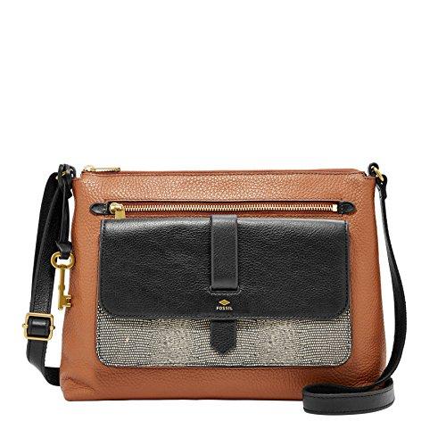 Fossil Damen Hand Tasche Kinley Crossbody Schultertasche Modische Umhänge Taschen ZB7378-994 Braun