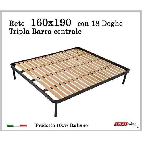 Ergorelax Rete per materasso a 18 doghe in faggio Con Tripla ...