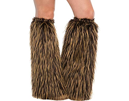 Amscan Adult Medieval Furry Leg Warmers -