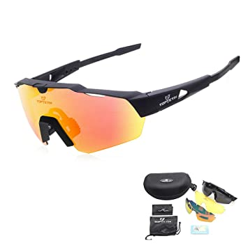 e1725afc26 Eyewear Sunglasses UV Protection Riding Glasses Eye Gear Protecor for Cycling  Bicycle Bike Outdoor Sports  04 Black frame+transparent lens  Amazon.ca  ...