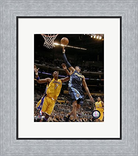 Allen Iverson - 2007 Action Framed Art Print Wall Picture, Flat Silver Frame