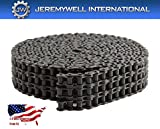 60-3 Triple Strand Roller Chain 10 Feet with 1 Connecting Link