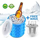 Appliances : Ice Cube Maker Genie from Arishine, Silicone Ice Bucket, Portable Ice Maker with Private Mode, Set of 3 Ice Pop Molds Bonus, Make Ice Cube Easily, Made for Trip & Picnic, BPA Free