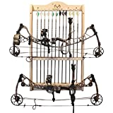 Rush Creek Creations Realtree 2 Bow and 12 Arrow Wall Rack - 4 Minute Assembly