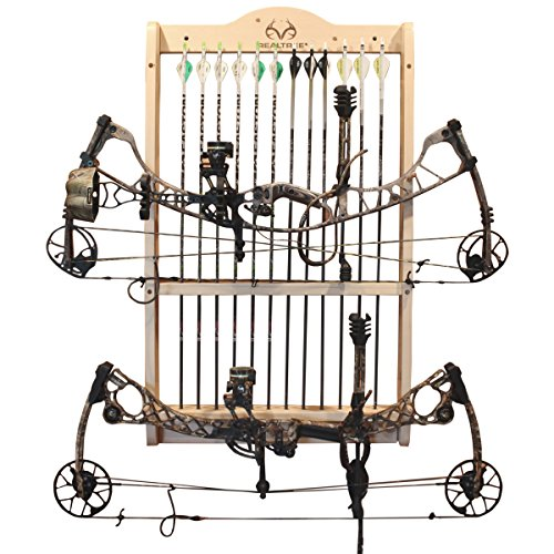 Rush Creek Creations REALTREE 2 Bow and 12 Arrow Wall Rack - 4 Minute Assembly by Rush Creek Creations