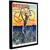 ArtWall Jean De Paleologue's Vintage French Poster of a Goddess with a Bicycle C.1898 Gallery Wrapped Floater Framed Canvas Artwork, 36'' x 48''