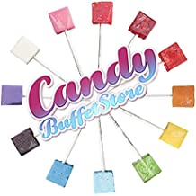 Black Square Pops - 24 Pack - Black Cherry Flavored - How To Build a Candy Buffet Guide included!