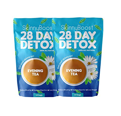 Skinny Boost Evening Tea (2 Pack) 28 Tea Bags Total, Supports Detox and Cleanse, Reduce Bloating, 100% All Natural…