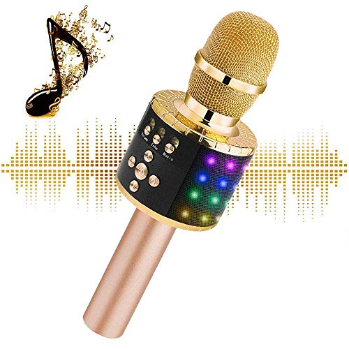 Why Should You Buy Wireless Bluetooth Karaoke Microphone with Multi-color LED Lights, 4 in 1 Portabl...