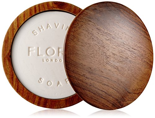 Floris London No.89 Shaving Soap In A Wooden Bowl, 3.4 (Bowl In Cream)