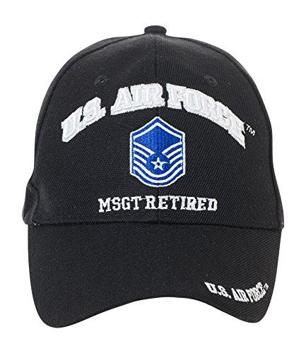 (Artisan Owl Officially Licensed US Air Force Retired Baseball Cap - Multiple Ranks! (Master Sergeant))