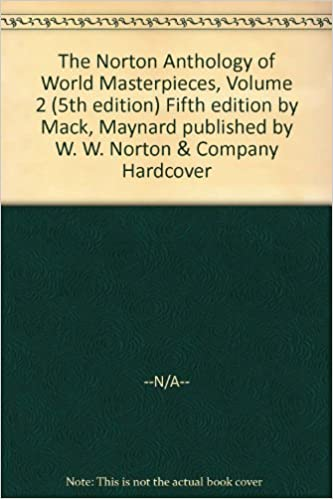 The norton anthology of english literature, fifth 5th edition, the.