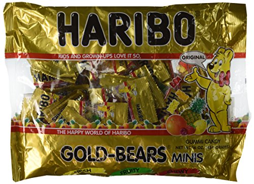 Haribo Gold-Bears Minis - Approximately 40 Individual Mini Bags, 16 Ounce Bag]()