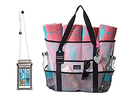 Amazon.com   Bombshell Beach Bags - with Free Universal Waterproof ... fce0ba35322e2
