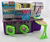 Deluxe Washing Machine Laundry Room Barbie Size Furniture Set