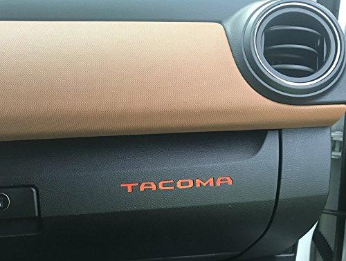 BDTrims | Glove Box Plastic Letters Inserts fits 2016-2019 Tacoma Models (Orange)