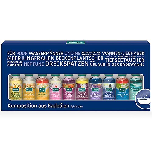Kneipp Komposition aus Badeölen, 10X20 ml