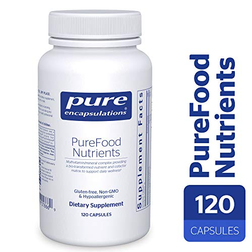 Pure Encapsulations - PureFood Nutrients - Bioavailable Multivitamin Mineral Complex - 120 Capsules