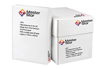 X MasterStor Premium Quality Integrated Label Invoice Paper - Integrated label invoice paper